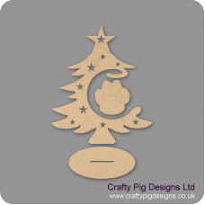 3mm MDF Paw Bauble and Tree on Stand Christmas Shapes