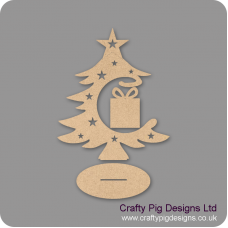 3mm MDF Present Bauble and Tree on Stand Christmas Shapes