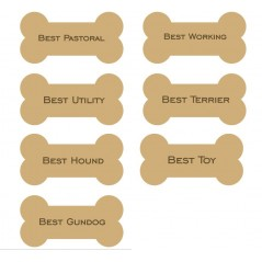 18mm Engraved Dog Bone (choose from options) 18mm MDF Engraved Craft Shapes
