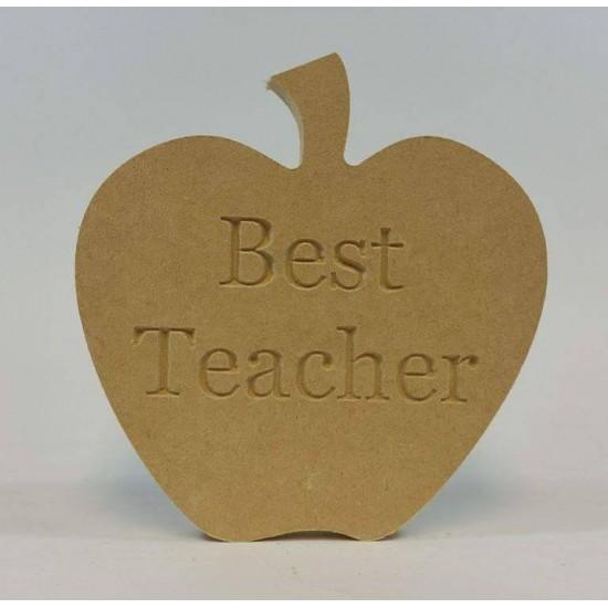 18mm Freestanding Best Teacher Apple Teachers