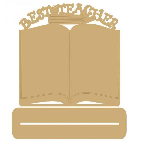 3mm MDF Best Teacher Book on plinth