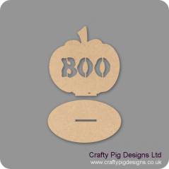3mm MDF Boo Pumpkin on plinth