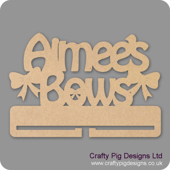 4mm MDF Personalised Bow Hanger Personalised and Bespoke