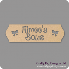 4mm MDF Personalised Cut Out Letters Bow Hanger Personalised and Bespoke