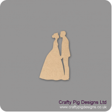 3mm MDF Bride and Groom Facing version 1 Wedding