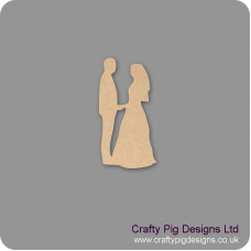 3mm MDF Bride and Groom Facing - version 2 Wedding