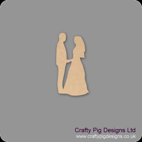 3mm MDF Bride and Groom Facing - version 2 Wedding