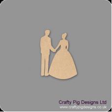 3mm MDF Bride and Groom - version 3 Wedding