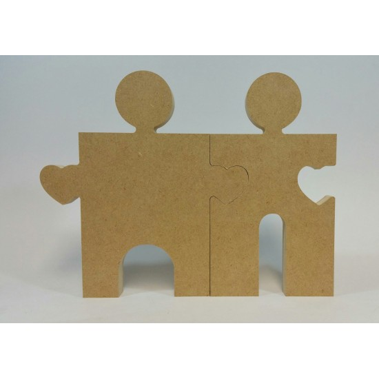 18mm Freestanding Bride And Groom Jigsaw Pieces