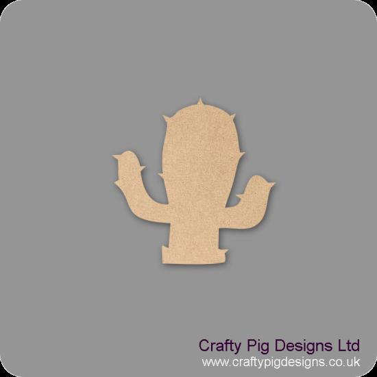3mm MDF Cactus Shape Basic Shapes