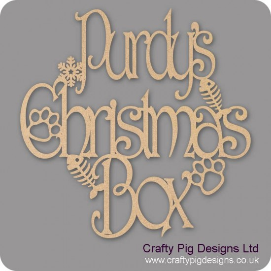 3mm MDF Square Personalised Cat Christmas Topper Personalised and Bespoke