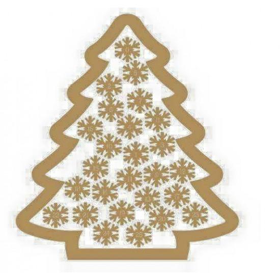 3mm MDF Christmas Tree Advent Calendar/Drop Box