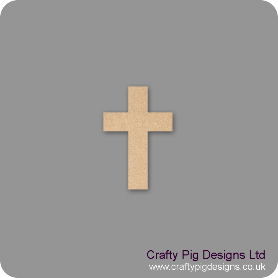 3mm MDF Cross Shape Christmas Shapes