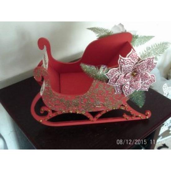 3mm MDF 3D Santa's Sled / Sleigh (3 sizes) Christmas Shapes