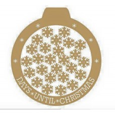 3mm MDF Bauble Advent Calendar/ Countdown Drop Box