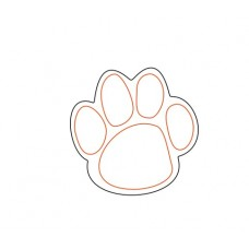 3mm MDF Paw Print (etched pads) Animal Shapes