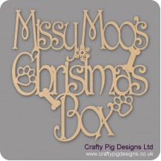 3mm MDF Square Personalised Dog Christmas Topper Personalised and Bespoke