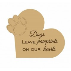 18mm Dogs Leave Paw Prints On Our Hearts Pet Quotes