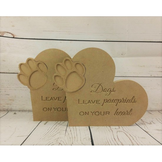 18mm Dogs Leave Paw Prints On Your Heart Pet Quotes
