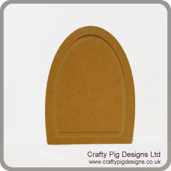 18mm Thick Arched Fairy Door with OUTER GROOVE ONLY (150mm) 18mm MDF Craft Shapes