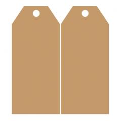 Door Tag 1 in 4mm MDF (1 Pair) Door Tags