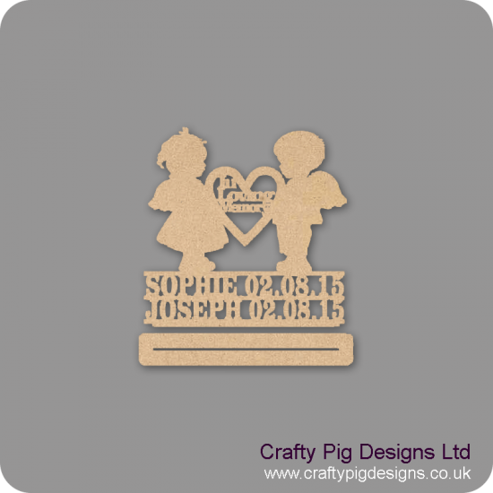4mm mdf Double Angel Baby Plinth Double Row Names And Dates Baby Shapes