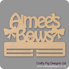 4mm MDF Personalised Double Bow Hanger Personalised and Bespoke