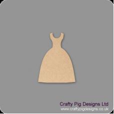 3mm MDF Dress Shape 2 Small MDF Embellishments