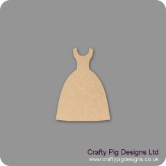 3mm MDF Dress Shape 2 Small MDF Embellishments