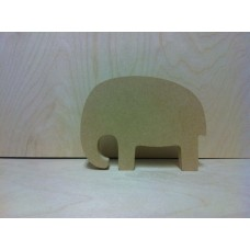18mm Trunk Down Elephant Shape  (by height) 18mm MDF Craft Shapes