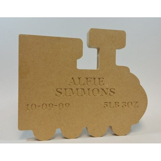 18mm Freestanding Train (with Personalised Name, Date and Weight Engraving) Baby Shapes
