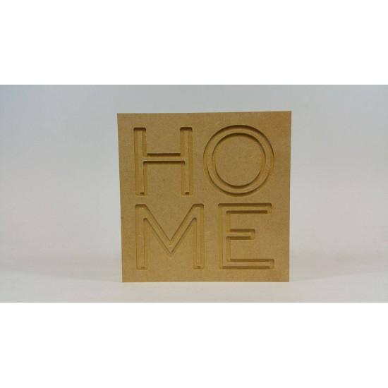 18mm Engraved Block - HOME 18mm MDF Engraved Craft Shapes