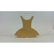18mm Blank or Engraved Tutu Dress Shape