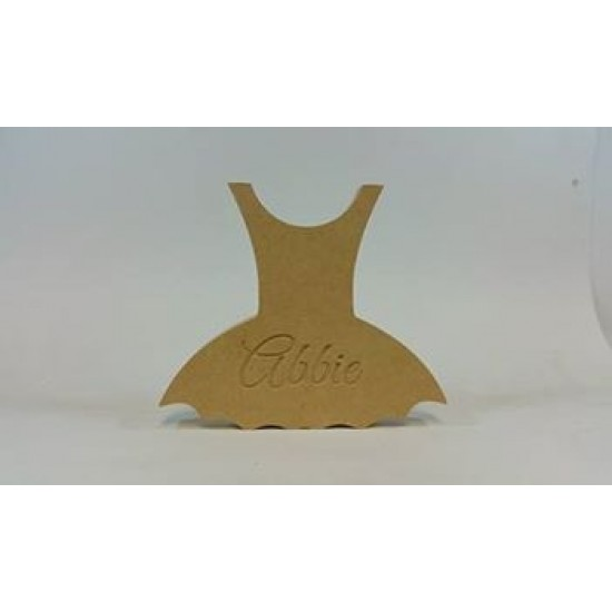 18mm Blank or Engraved Tutu Dress Shape 18mm MDF Engraved Craft Shapes
