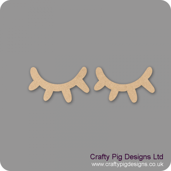 3mm MDF Pair of Eyelashes (by width) Small MDF Embellishments
