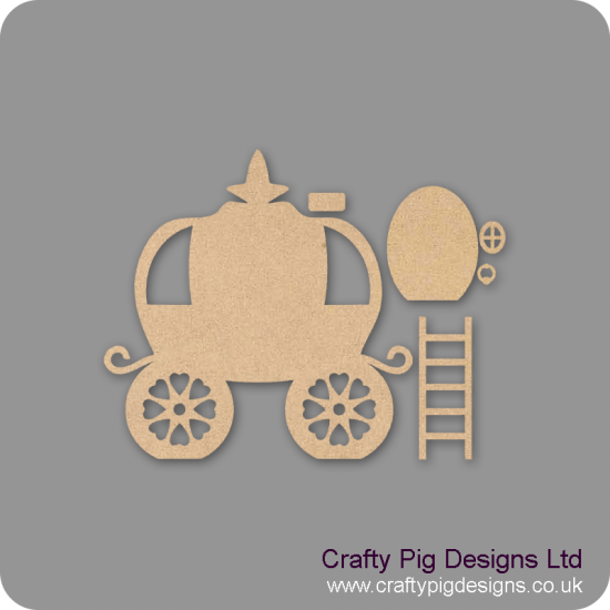 3mm MDF Fairy Carriage Set with ladders Fairy Doors and Fairy Shapes