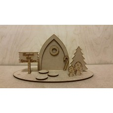 3mm MDF Fairy Scene Style 1 Fairy Doors and Fairy Shapes