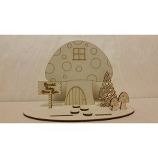 3mm MDF Fairy Scene Style 2 (no fairies) Fairy Doors and Fairy Shapes