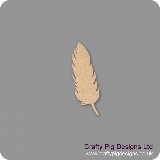 3mm MDF Feather Shape