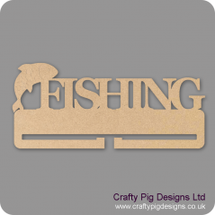 4mm MDF Fishing Medal Holder Medal Holder / Hanger