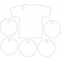 3mm Acrylic Football Shirt and Footballs (1 shirt 5 footballs per set)