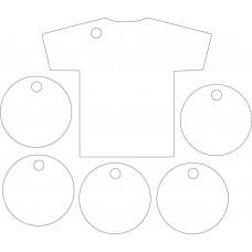 3mm Acrylic Football Shirt and Footballs (1 shirt 5 footballs per set) Fathers Day
