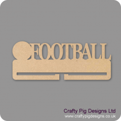 4mm MDF Football Medal Holder Medal Holder / Hanger