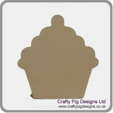 18mm Freestanding Cupcake 18mm MDF Craft Shapes