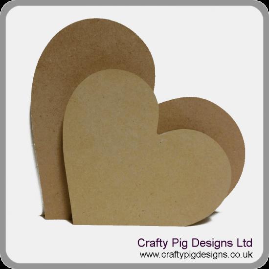 18mm Freestanding Heart 18mm MDF Craft Shapes