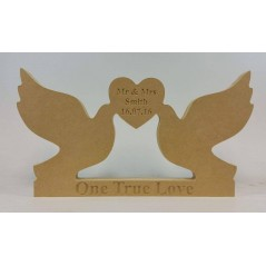 18mm Freestanding Doves With Engraved Heart And Base