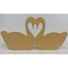 18mm Freestanding Facing Swans Valentines