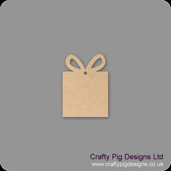 3mm MDF Gift Box hanging decoration - plain