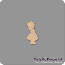 3mm MDF Baby Girl Shape Baby Shapes
