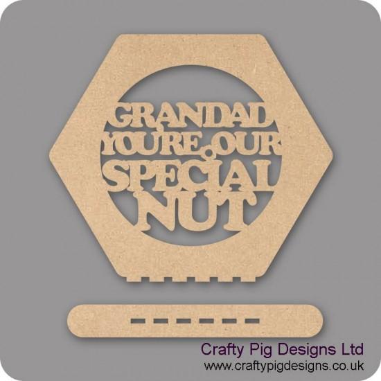 3mm MDF Fathers Day Nut Plinth (150mm high)